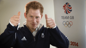 Prince Harry showing his support to Team GB as part of our campaign for the Winter Olympics in Sochi