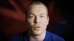 Image of Sir Chris Hoy in our Campaign video to cheer Team GB onto Victory in Rio