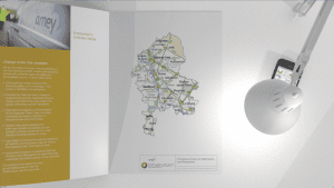 3D motion graphics of a corporate guidebook