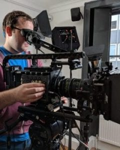A video crew hire camera operator with the latest Sony camera