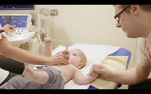 A baby from our creative corporate video for the East Midlands Congenital Heart Cenre