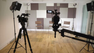 Video production facilities room one - a filming and photography space